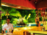 Swim Up Bar by Night | Amoa Resort | Savaii, Samoa