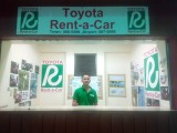 TRAC Rental-a Car booth at the airport